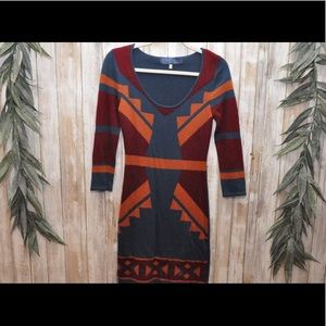 Blue Rain Knitted Sweater Dress NWOT